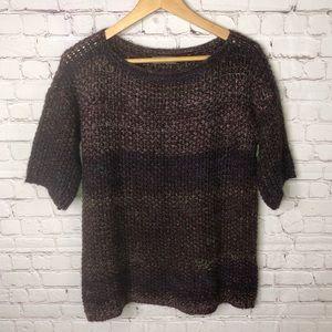Anthropologie Elsamanda Purple Wool Sweater